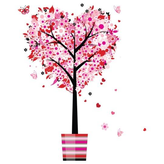 arbol floreado de amor