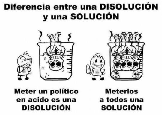 dif solucion disolucion