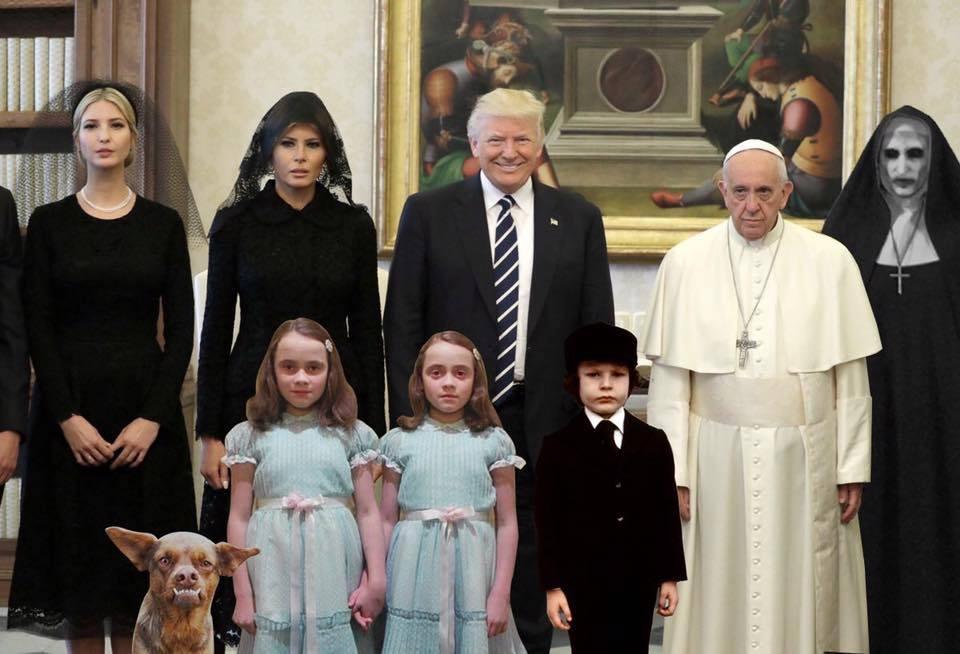 Visita de trump al papa